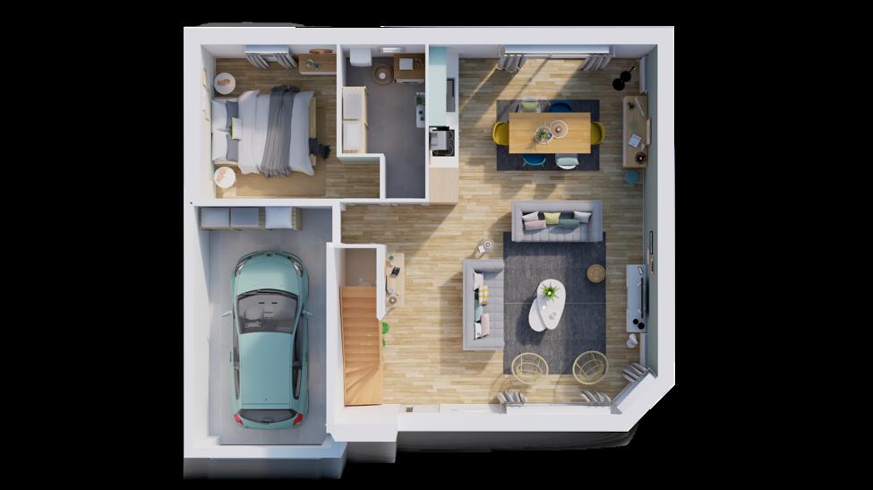 maison personnalisable pdv hexa combles gi rdc