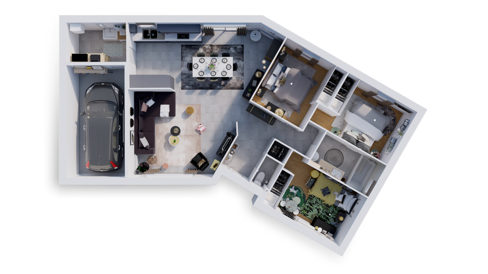 maison personnalisable pdv hexa plain pied v gi