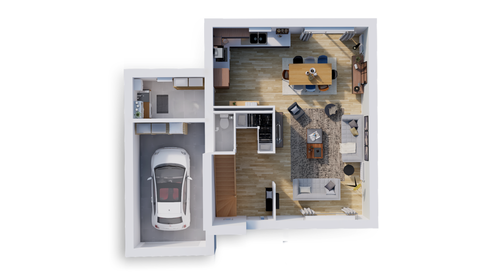 maison personnalisable pdv hexa r1 rdc