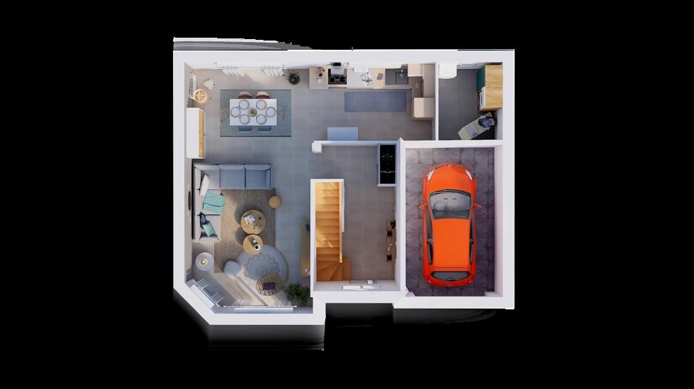 maison personnalisable pdv hexa style combles gi rdc