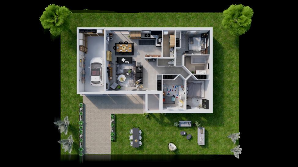 maison personnalisable pdv hexa style plain pied l gi
