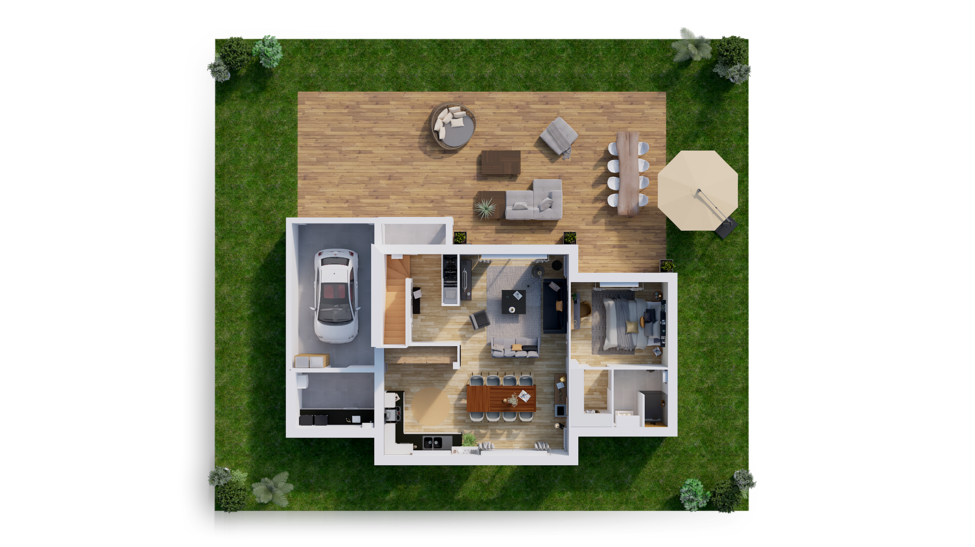 maison personnalisable pdv hexa style r1 blocs ga rdc